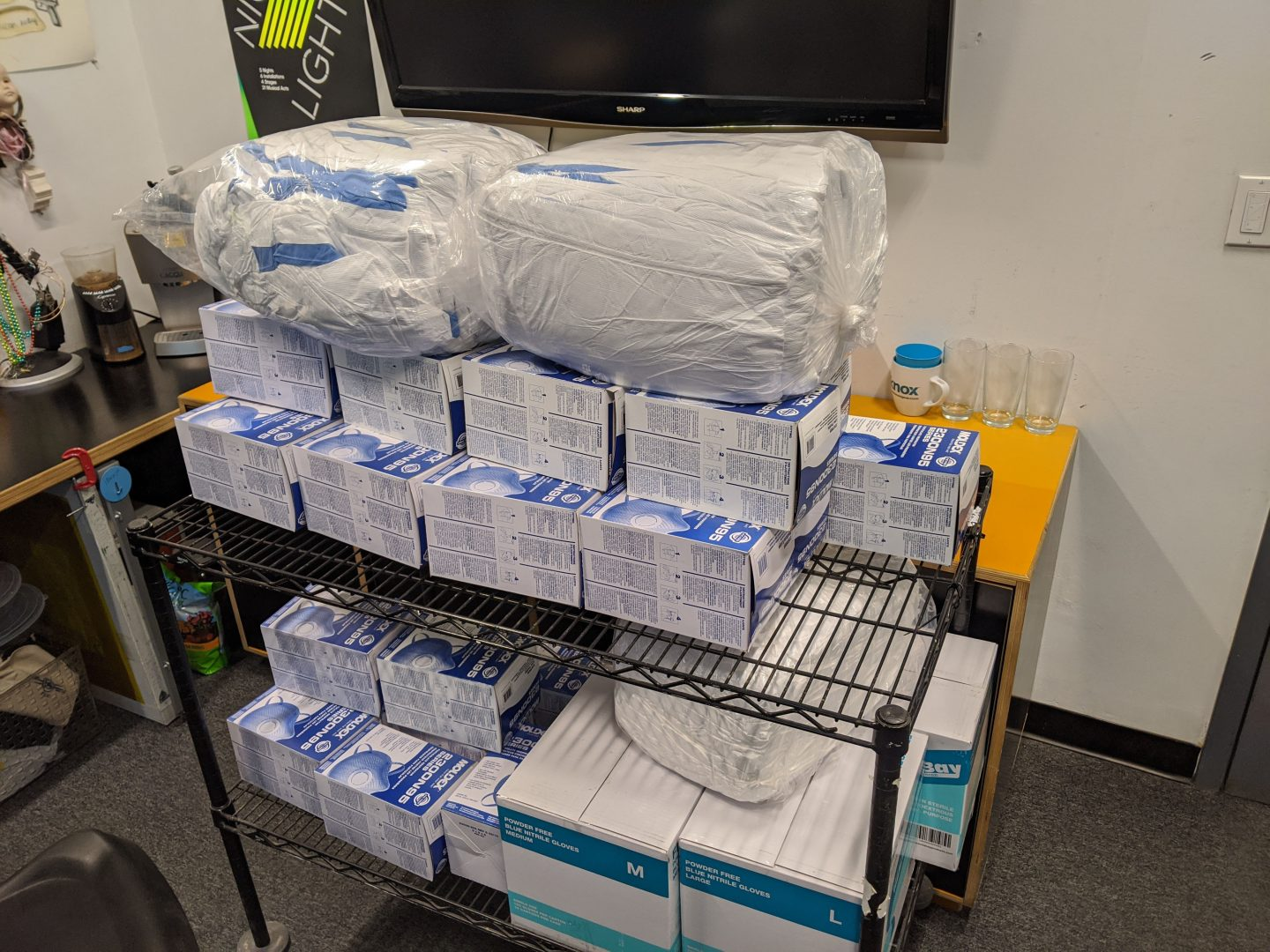 Personal Protective Equipment Donated from the Parsons Making Center to area hospitals.
