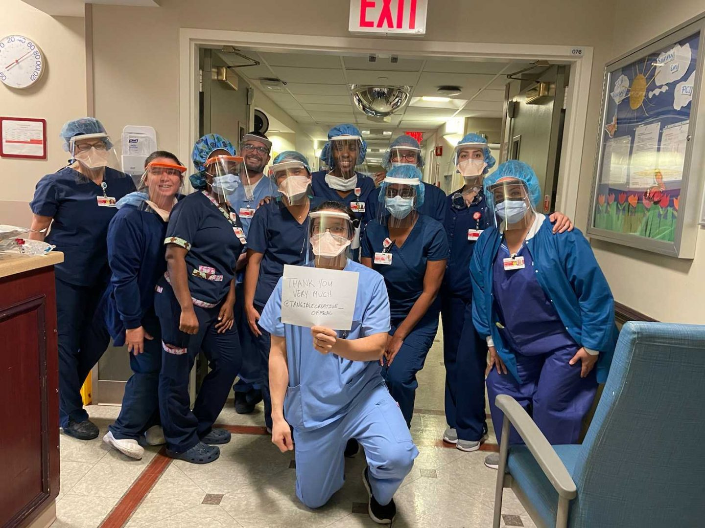 Front Line Medical Personnel in Queens Receive Face Shields from Parsons Alumni