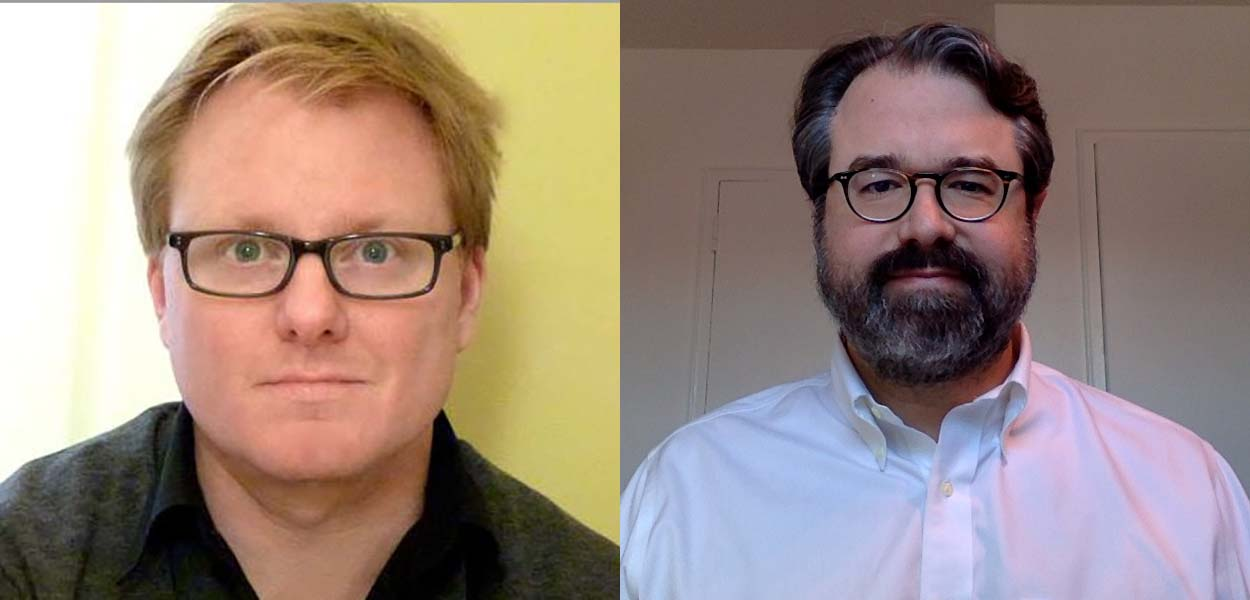 Professors Paul Kottman and Zed Adams, co-directors of the Institute for Philosophy and the New Humanities