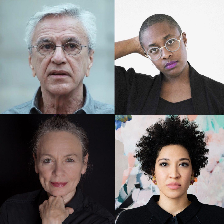 L-R: Caetano Veloso, Cécile McLorin Salvant, Julia Bullock, Laurie Anderson