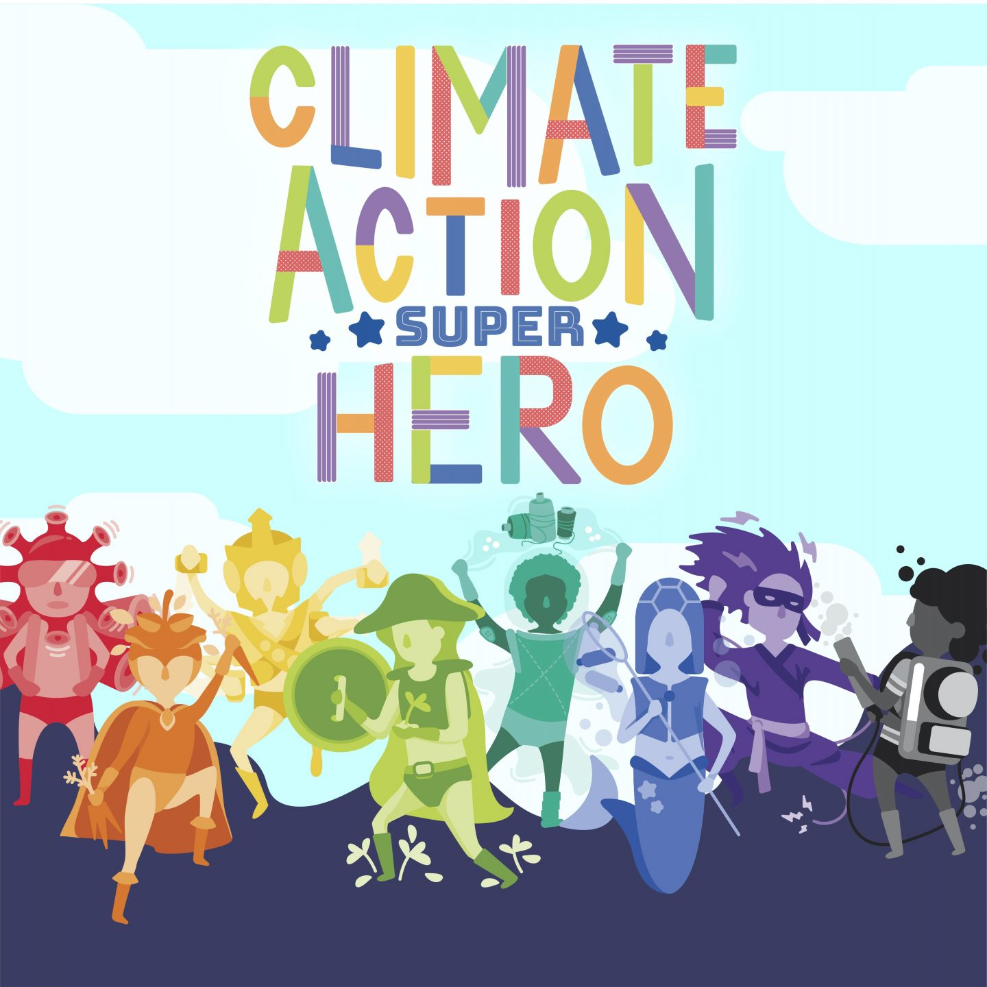 The climate campaign created by the GEMS cohort is targeted to children