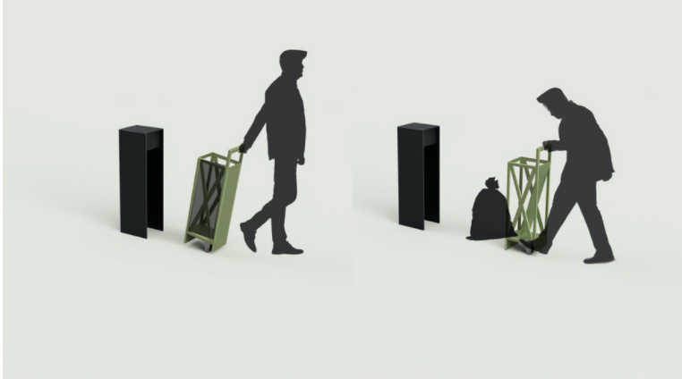 A rendering of a new trashcan design by Prerna Sharma