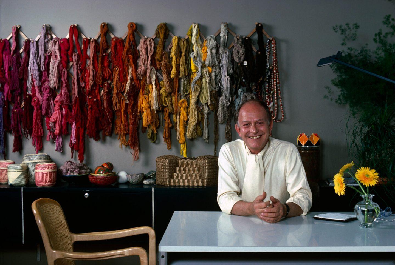 Jack Lenor Larsen in his studio
