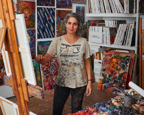 Sonya Sklaroff in her studio. Photo by Alison Gootee