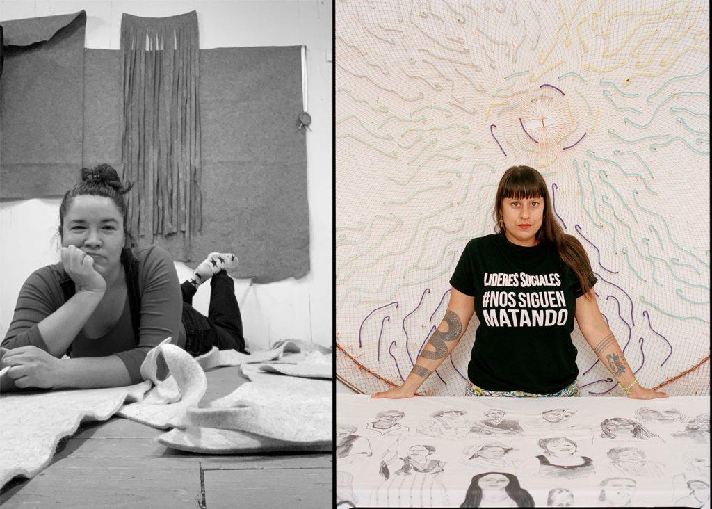 Maria Hupfield, Carolina Caycedo (Photo of Caycedo by Keith Oshiro)