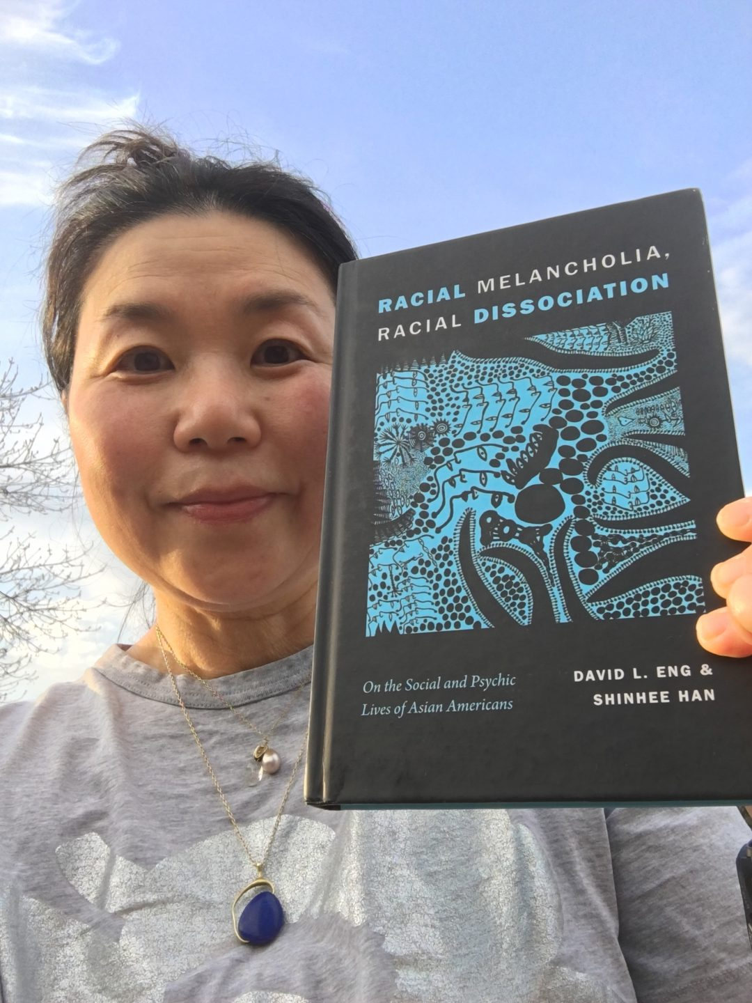 Shinhee Han with the book she co-authored