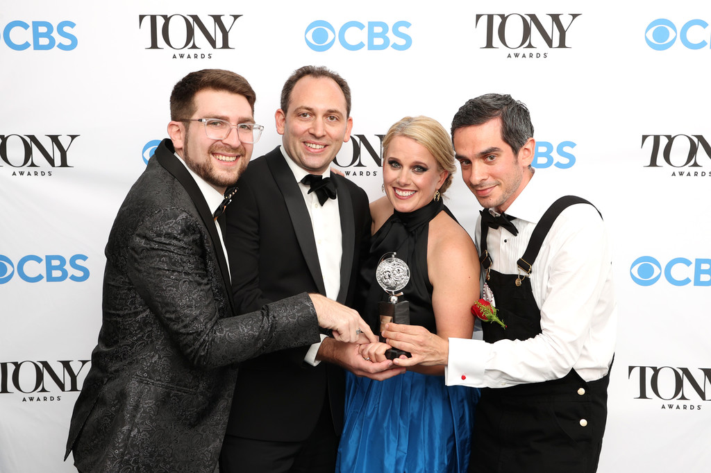 Kresek with her Tony Award and colleagues from Moulin Rouge!