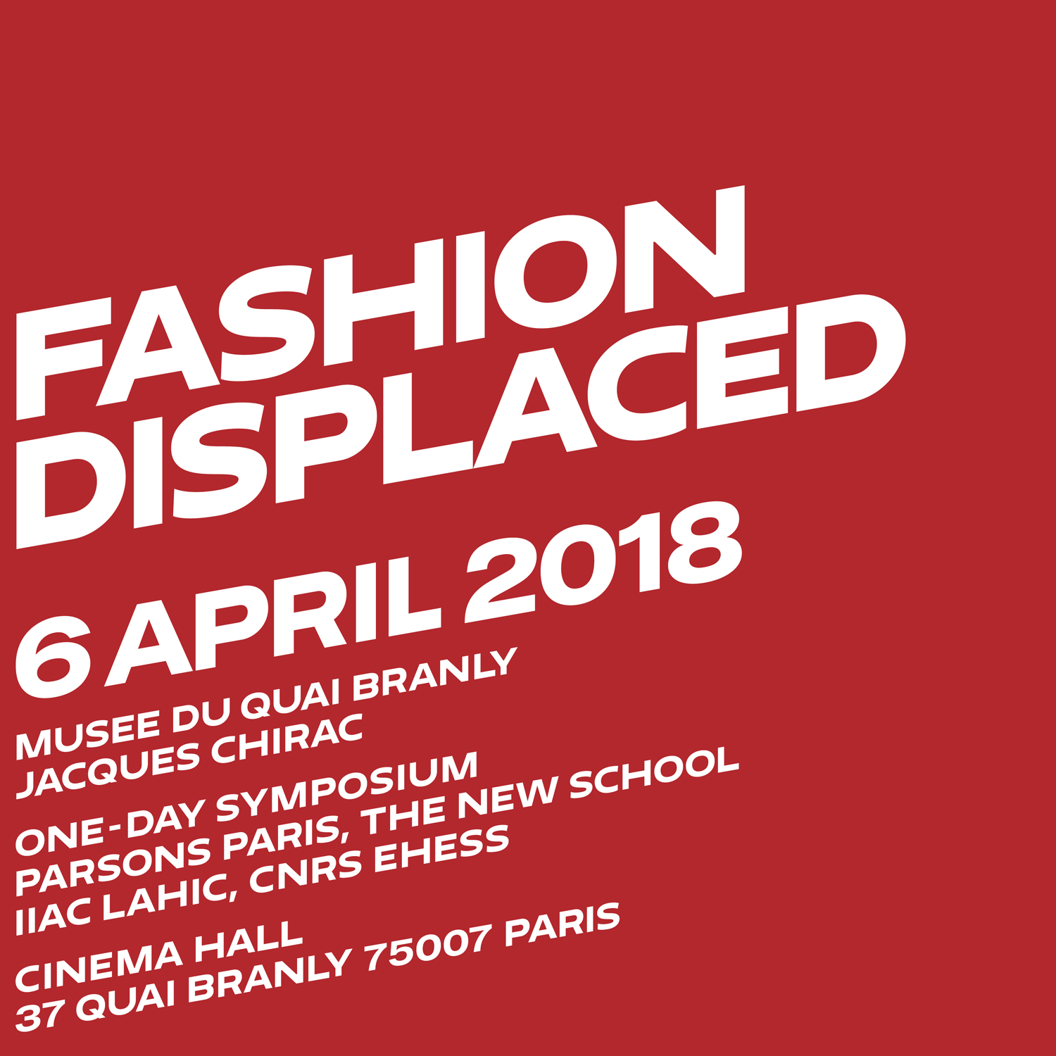 Fashion Displaced