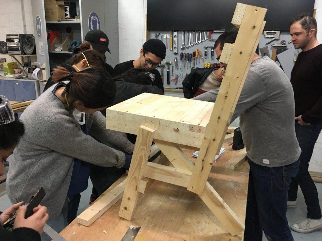 Idea Prototyping: Chair Building Workshop at La Reserve des Arts