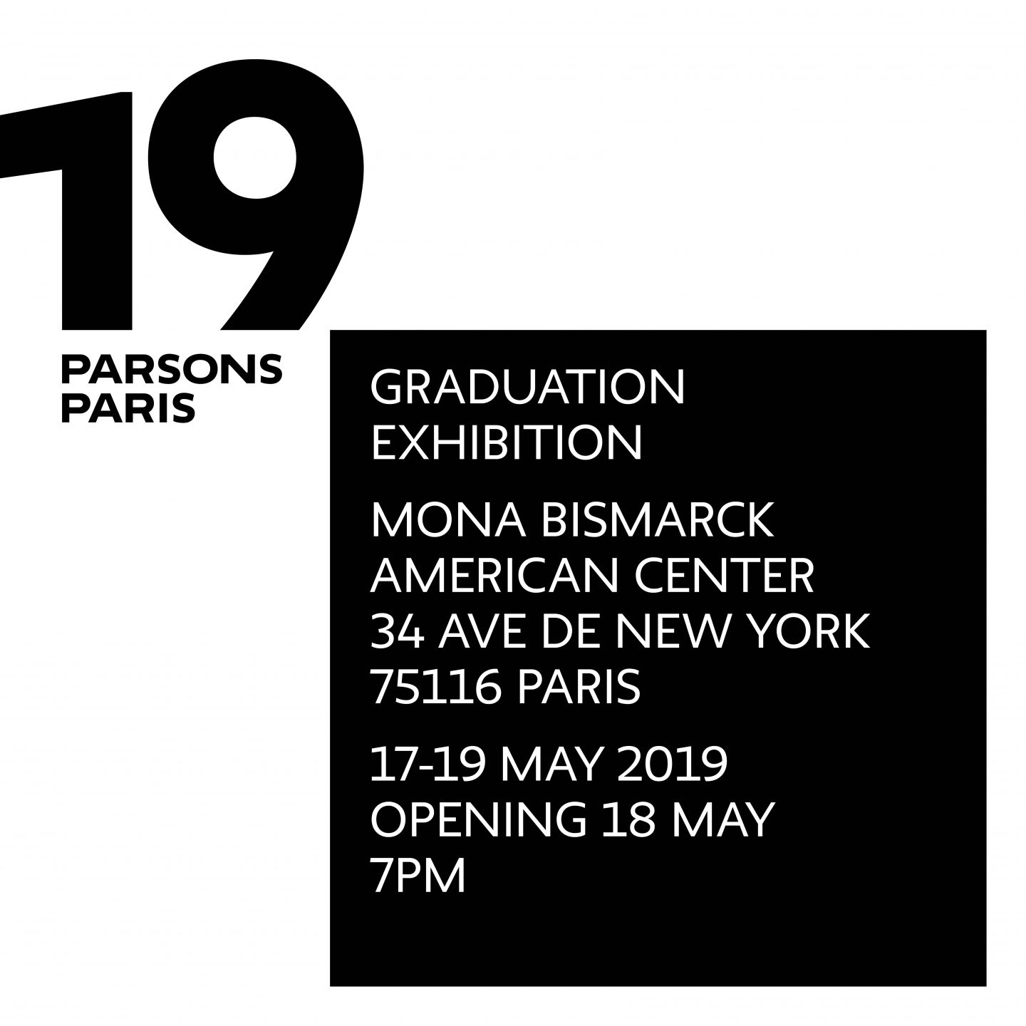 2019 Graduation Exhibition at the Mona Bismarck American Center