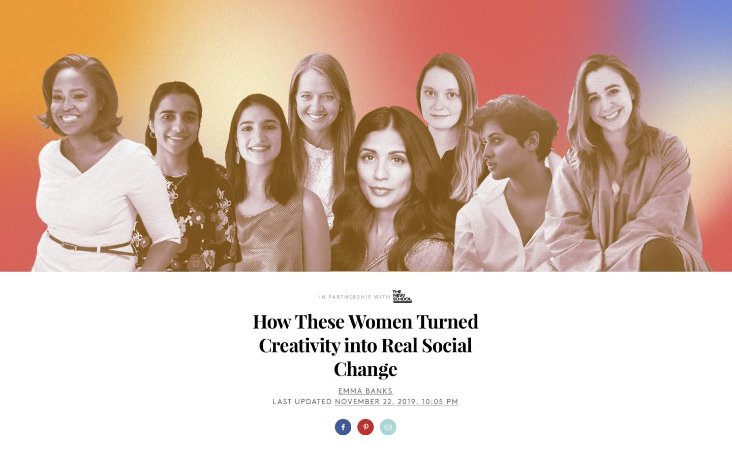 MA Fashion Studies Alumni: 'How These Women Turned Creativity into Real Social Change' by Refinery29