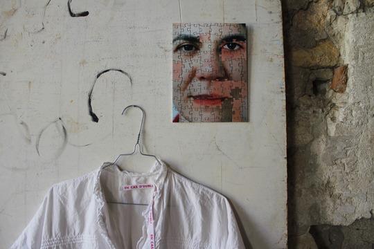 """Details of Emmanuel Cohen's """"En Cas D'Oubli""""  photographic puzzles for Cécile Portier's exhibition """"Étant Donné"""". Villeneuve-lès-Avignon, 2013. © Cécile Portier"""