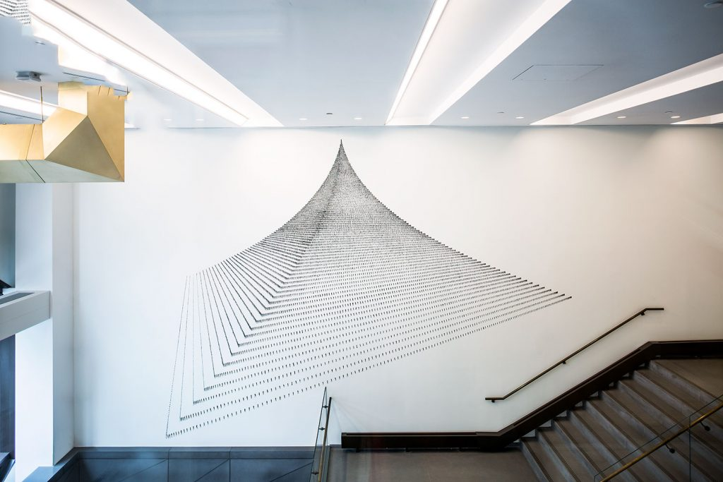 Agnes Denes, Pascal's Perfect Probability Pyramid & the People Paradox – the Predicament, 1980–2017. The New School Art Collection. (Photo / Fernanda Kock)