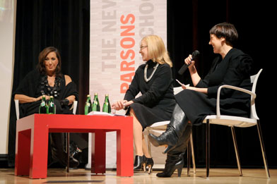 Donna Karan in Conversation at Parsons with Valerie Steele and Shelley Fox