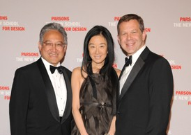 Honorees William K. Fung and Vera Wang with Parsons Dean Joel Towers