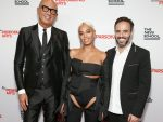 NEW YORK, NY - MAY 21:  (L-R) Honorees Gucci CEO Marco Bizzarri, Solange Knowles and Founder and CEO of Farfetch Jose Neves attend the 70th Annual Parsons Benefit on May 21, 2018 in New York City.  (Photo by Brian Ach/Getty Images for The New School)