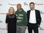 NEW YORK, NEW YORK - MAY 20: (L-R) Honorees Julie Wainwright, Pharrell Williams, and Michael Preysman attend the 71st Annual Parsons Benefit honoring Pharrell, Everlane, StitchFix & The RealReal on May 20, 2019 in New York City. (Photo by Ben Gabbe/Getty Images for Parsons)