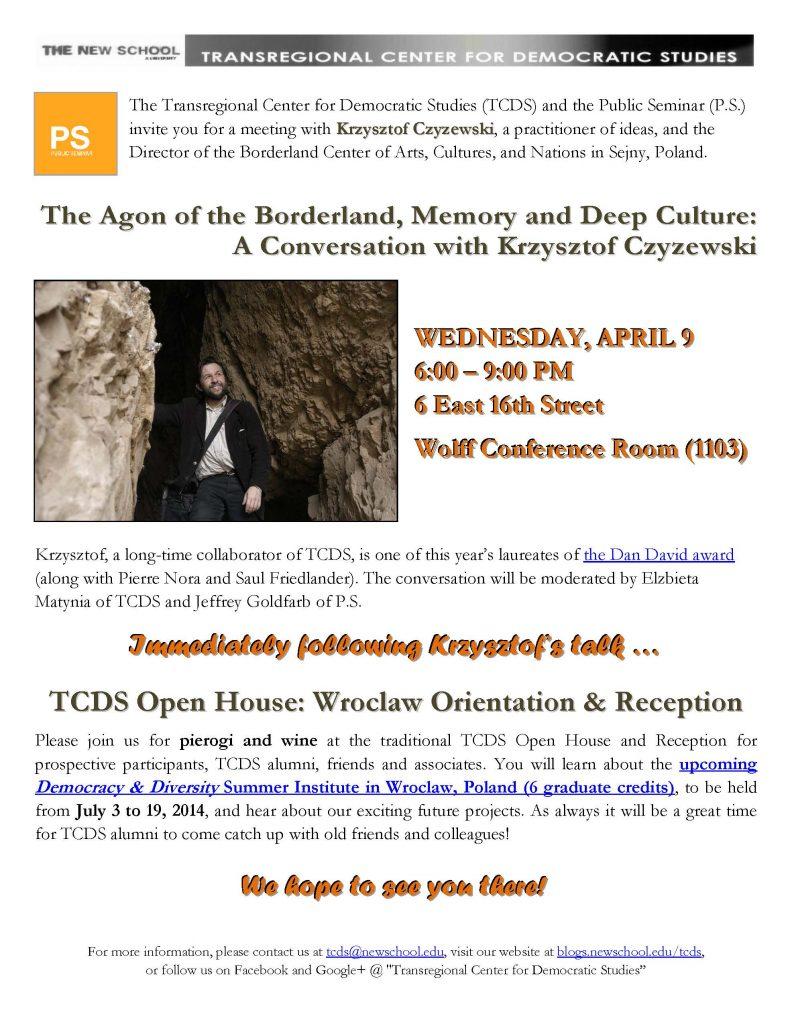 Spring_2014_Krzysztof's Talk&Open House