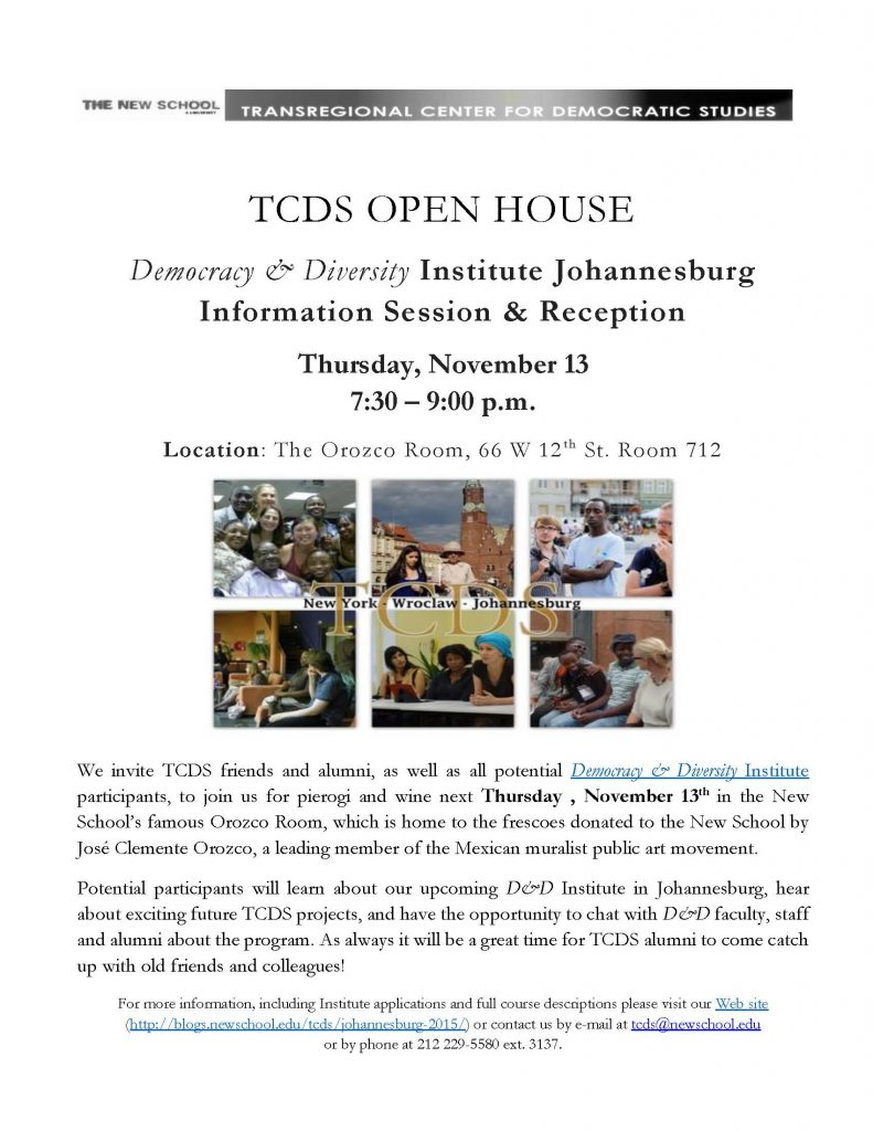 TCDS OPEN HOUSE poster