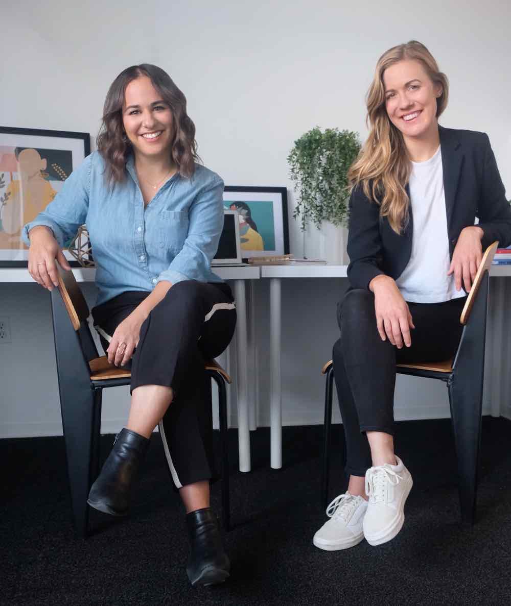 Liz Eddy (right) with co-founder Alyssa Ruderman